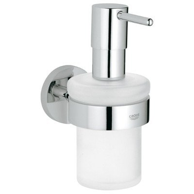 Grohe Essentials zeepdispenser met houder chroom