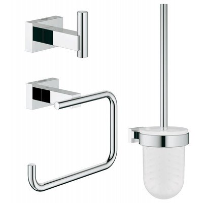 Grohe Essentials Cube Set d'accessoires de toilette 3=1 chrome