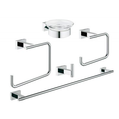 Grohe Essentials Cube accessoireset 5 in 1 chroom