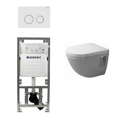 Duravit Philippe Starck 3 compact inbouwreservoir set soft close zitting afdekplaat sigma20 wit