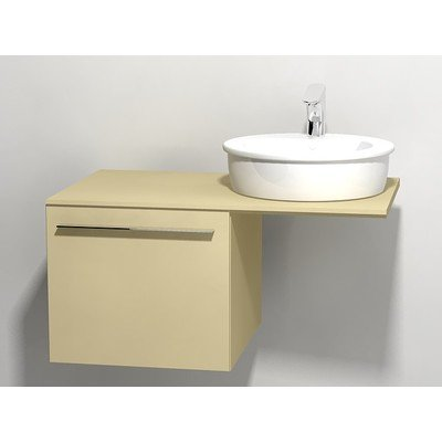 Duravit X large onderbouwkast v console met 1 lade 50x545x44cm cappuccino glans