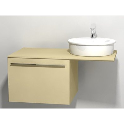 Duravit X large onderbouwkast v console met 1 lade 60x545x44cm cappuccino glans