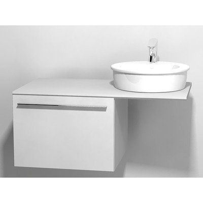 Duravit X large onderbouwkast v console met 1 lade 60x545x44cm glanswit