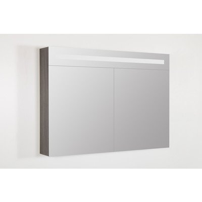 Saniclass Legno Armoire miroir 100x70cm Double Face anthracite