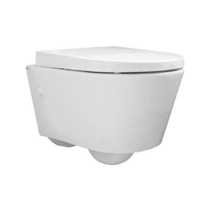 Throne Bathrooms Sanidusa Cuvette murale compacte à fond creux Blanc