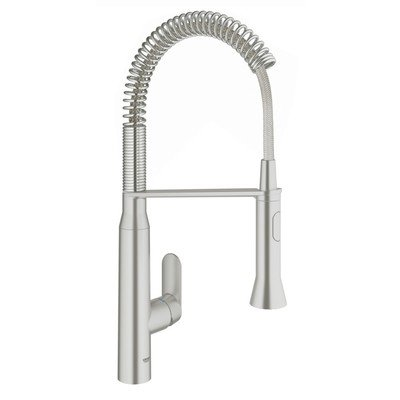 Grohe K7 medium professionele keukenkraan met voetbediening supersteel