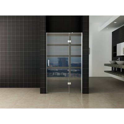 Wiesbaden Turn Shower swingdeur 140x200cm met vast paneel 8mm glas met NANO coating SHOWROOMMODEL