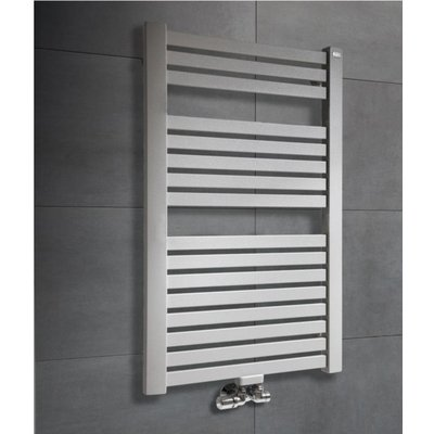 Throne Bathrooms Base Designradiator 141x56cm ADDR midden 14055 STA Grafit Grey matt 836 watt