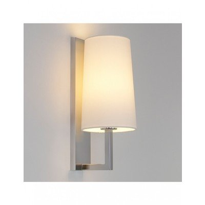 Astro Riva 350 wandlamp met kap mat wit glas exclusief E27 chroom 8x35cm IP44 staal A