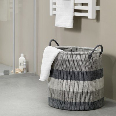 Sealskin wasmand Knitted 36x38x36 grijs OUTLET