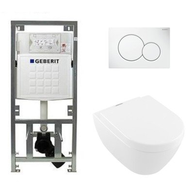 Villeroy & Boch subway 2.0 toiletset diepspoel inclusief ViFresh plus quickrelease en softclose zitting afdekplaat wit