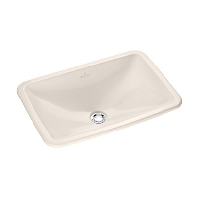 Villeroy en Boch Loop en Friends inbouwwastafel met overloop 51x34cm ceramic+ pergamon