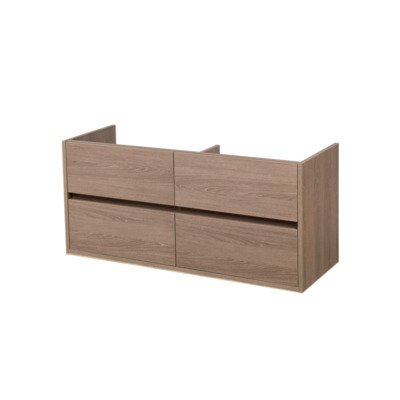 Saniclass Nexxt onderkast 119x45.5x55 greeploos 4 lades met softclose MFC Legno Viola OUTLET OUT5463