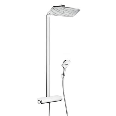 Hansgrohe Raindance select e 360 showerpipe ecostat select e ecosmart wit chroom