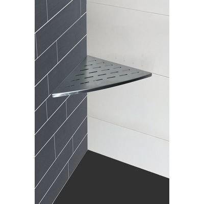 Wiesbaden InWall Tablette murale d'angle 29x29cm sans support pour montage inox