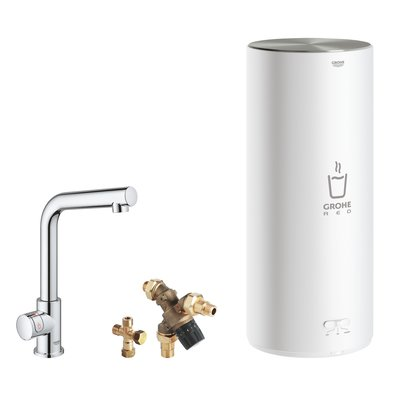 Grohe Red New keukenkraan mono met L-uitloop en L-size boiler chroom OUTLET
