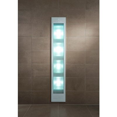 Sunshower Deluxe White UV- en infrarood inbouwapparaat 32x187x16cm full body 2000watt wit/aluminium