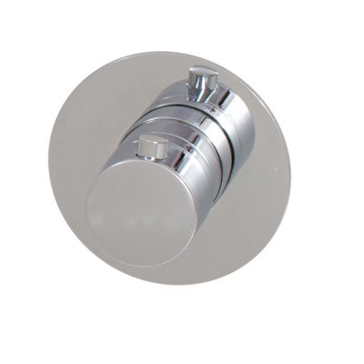 Saniclass Brauer Inbouwthermostaat ronde knop met ronde rozet Chrome Edition