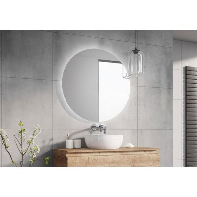 Throne Bathrooms Rondo spiegel 90cm met LED verlichting 3 standen SHOWROOM