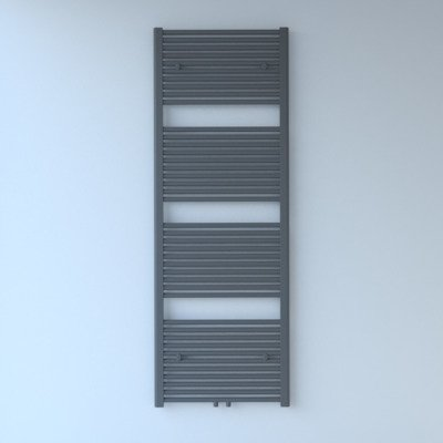 Throne Bathrooms Exclusive line 2.0 radiator 60x180cm 990watt recht middenaansluiting grijs metallic