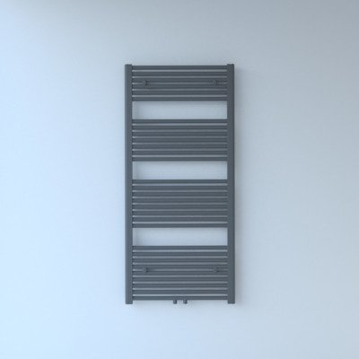 Throne Bathrooms Exclusive line 2.0 radiator 60x140cm 735watt recht middenaansluiting grijs metallic