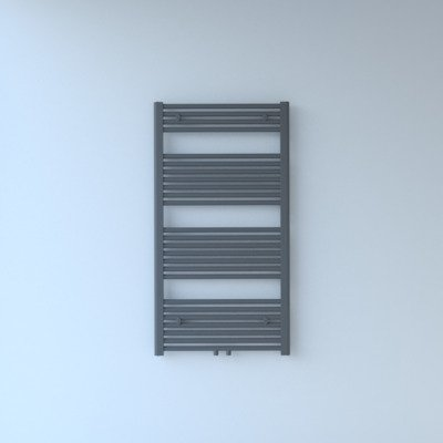 Throne Bathrooms Exclusive line 2.0 radiator 60x120cm 617watt recht middenaansluiting grijs metallic