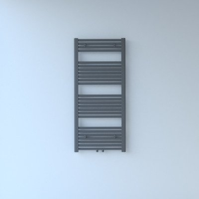 Rosani Exclusive line 2.0 radiator 50x120cm 528watt recht middenaansluiting grijs metallic