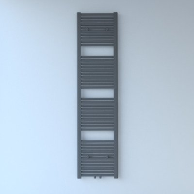 Rosani Exclusive line 2.0 radiator 40x180cm 696watt recht middenaansluiting grijs metallic