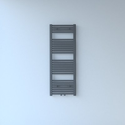 Throne Bathrooms Exclusive line 2.0 radiator 40x120cm 438watt recht middenaansluiting grijs metallic