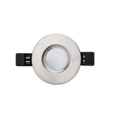 Interlight LED spot set IP65 dimbaar rond 90mm met driver 36° richtbaar geborsteld chroom