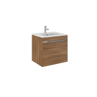 Crosswater Kai Meuble sous-lavabo 1 tiroir 60x48x45.5cm MDF Honey Walnut mat