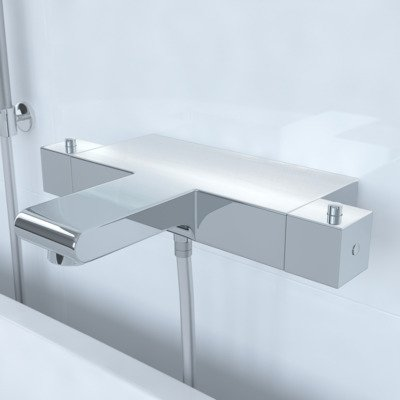 Saniclass Brauer Square CS Robinet de douche et bain thermostatique chrome