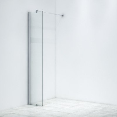 Saniclass Bellini Douche à l'italienne 40x200cm verre de sécurité 8mm anticalcaire chrome DESTOCKAGE