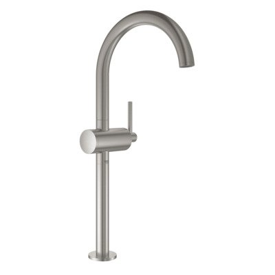 Grohe Atrio 1-gats wastafelkraan XL-size m. push open supersteel