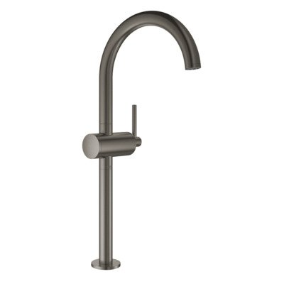Grohe Atrio 1-gats wastafelkraan XL-size m. push open brushed hard graphite