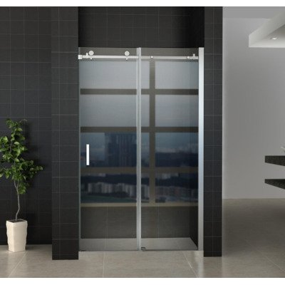Wiesbaden Slide douchedeur 140x200cm chroom 8mm glas NANO coating