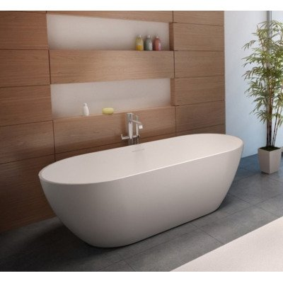 Riho Bilbao 150x75x55,5cm Solid surface Mat Wit