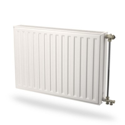 Radson Compact Radiator (paneel) H30xD6.5xL150cm 827W Staal Wit
