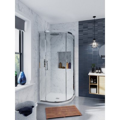 Crosswater Infinity douchecabine kwartrond 90x90x200 chroom