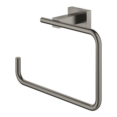 Grohe Essentials Cube handdoekring brushed hard graphite