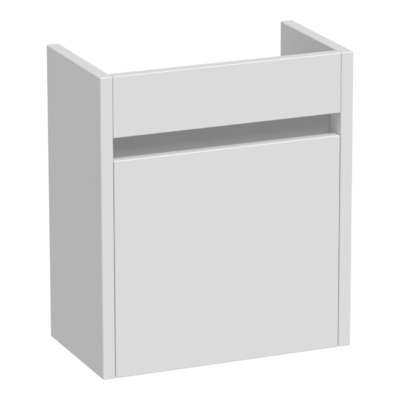Saniclass Future fonteinkast links met softclose 40x45x21.5cm hoogglans wit