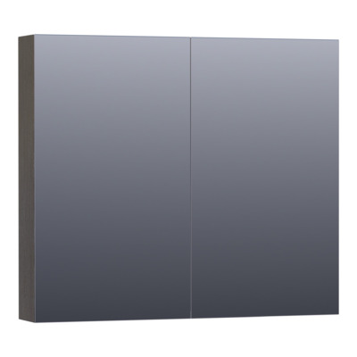 Saniclass Plain Spiegelkast 80x70x15cm Black Diamond