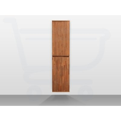 Saniclass Natural Wood greeploze hoge kast 160 2 deuren