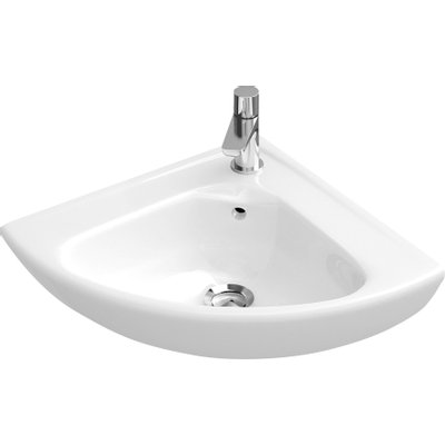 Villeroy & Boch Omnia Compact Lave mains d'angle 55x45cm Blanc