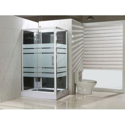 Exellence Thermo complete douchecabine links 120x90x218cm alu glas