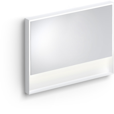Clou Look at Me spiegel 110cm LED-verlichting IP44 mat wit