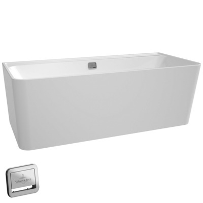 Villeroy & boch Collaro bad back-to-wall 180x80cm chrome wit