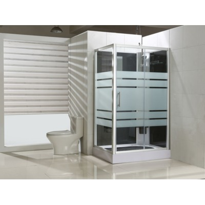Exellence Thermo complete douchecabine rechts 120x90x218cm alu glas