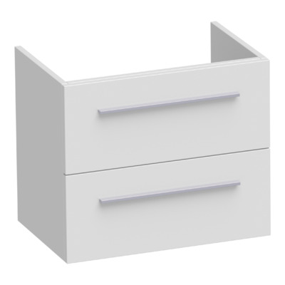 Saniclass Exclusive Line Small onderkast 59x39x50cm 2 lades met softclose MDF wit hoogglans