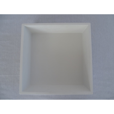 Crosstone by Arcqua Solid Alcove inbouwnis 30x30x10cm solid surface mat wit